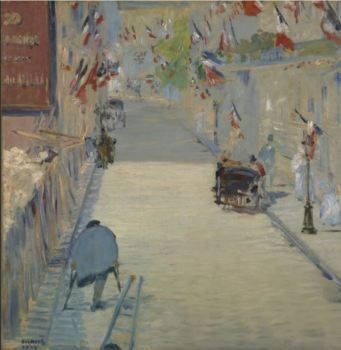 The Rue Mosnier with Flags - Eduard Manet - Getty Museum