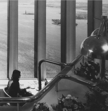 The view from Windows on the World, in this photo taken in 1977, included Governors Island and the Statue of Liberty Getty Images