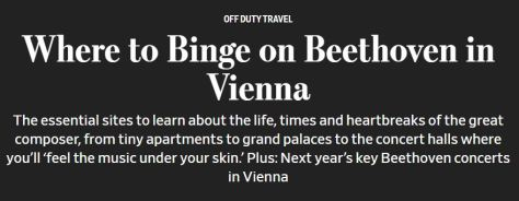 Where to Binge on Beethoven in Vienna - Wall Street Journal Sept 2019