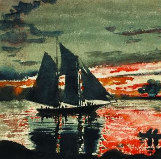Winslow Homer's Sunset Fires (1880) PHOTO THE WESTMORELAND MUSEUM OF AMERICAN ART