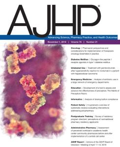 American Journal of Health System Pharmacy