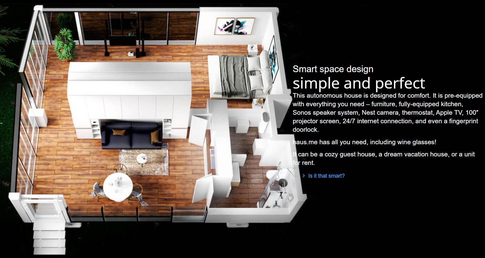 Autonomous off the grid smart houses from Haus.me