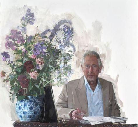 Eileen Hogan painting Prince Charles