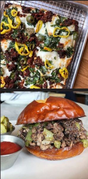 Emmy Squared Pizza and Burger