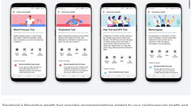 "Health Care Technology: Facebook Unveils Tool For ""Preventative Health"""