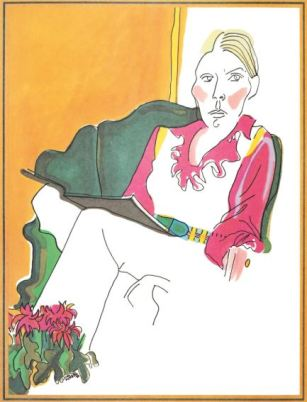 Joni Mitchell Morning Glory on the Vine drawing