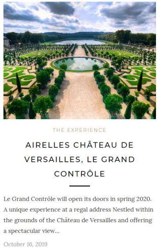 Le Grand Contrôle Hotel Versailles France