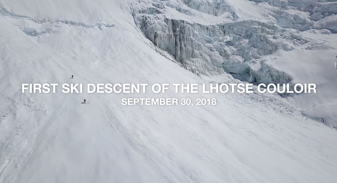 Lhotse The North Face Ski Descent Short Film Directed by Dutch Simpson 2019