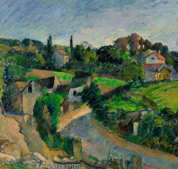 Paul Cézanne, The Turning Road (La route tournante), c. 1877, oil on canvas, private collection.
