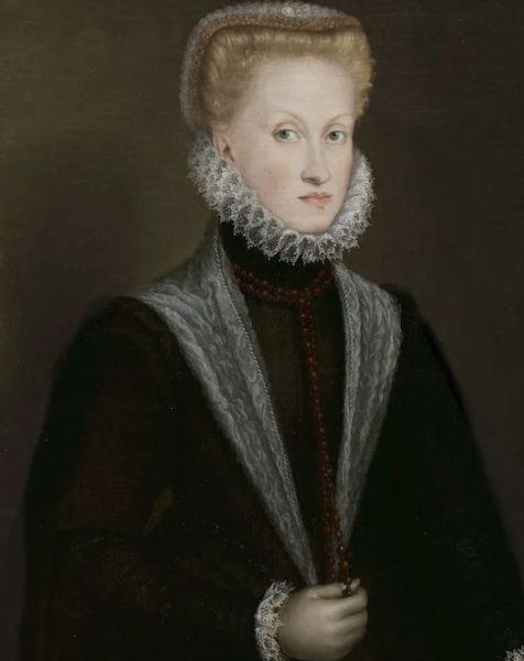 Queen Anna of Austria (c. 1573), Sofonisba Anguissola. Museo Nacional del Prado, Madrid