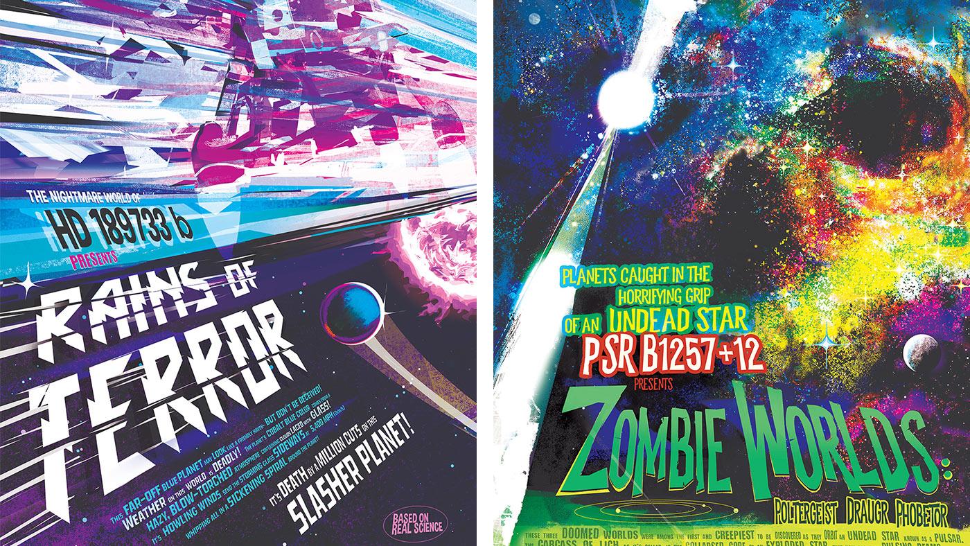 Rains of Terror NASA Exoplanet Posters Halloween 2019