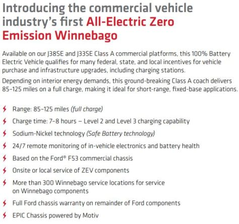 Winnebago RV All-Electric