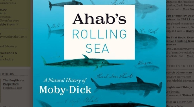 "Best New Books: ""Ahab's Rolling Sea – A Natural History Of Moby-Dick"" By Richard J. King"