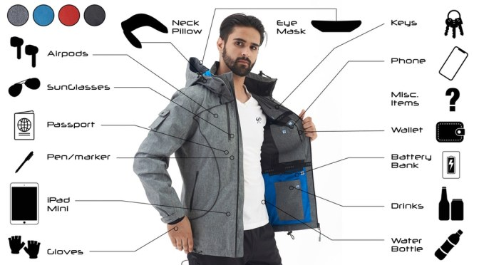 """Top Travel Accessories: PinFin's """"Alpha Jacket"""" Has Enough Pockets To """"Replace A Backpack"""""""
