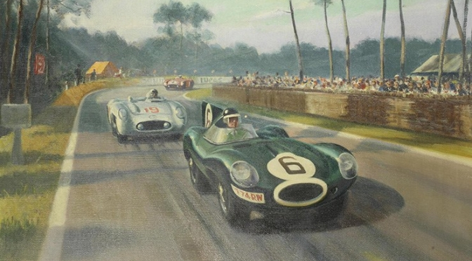 Nostalgia: British Artist Roy Nockolds Captured Motorsport Racing From 1930's Through 1960's