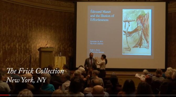 """Art Videos: """"Édouard Manet and the Illusion of Effortlessness"""" (The Frick Collection NYC)"""