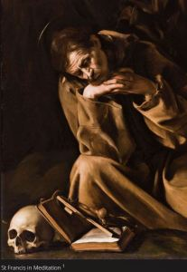 Caravaggio St. Francis in Meditation