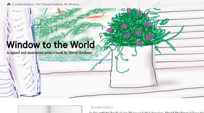 """Collector's Edition Books: """"David Hockney – My Window"""" (Taschen)"""