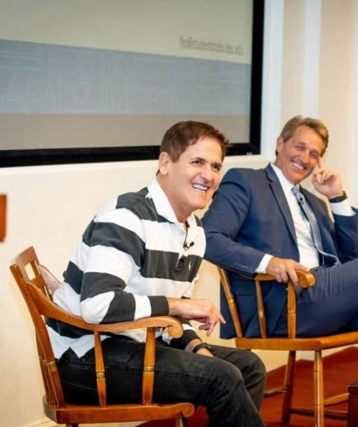 Mark Cuban at Harvard University Free Enterprise Club. Photo by Rose Lincoln Harvard Staff Photographer 2019
