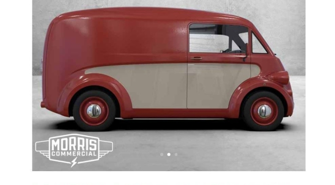 "Automotive Nostalgia: 1940s British Van ""Morris Commercial"" Relaunches With All-Electric Model"