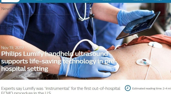 Medical Technology: Mobile Ultrasound For Smart Phones Or Devices Assists In Cardiac Arrest