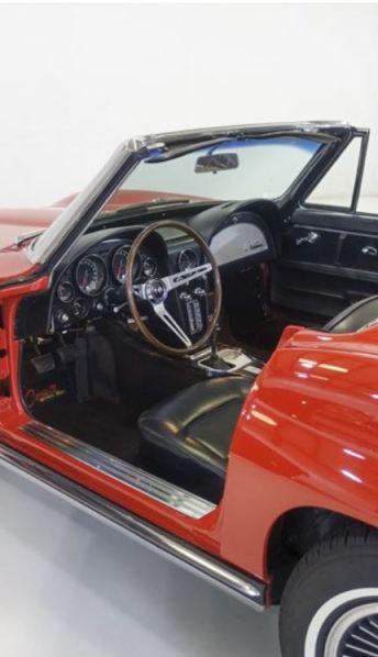 1965 Chevrolet Corvette L76 Stingray interior