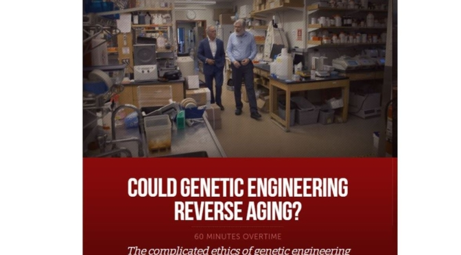 "Genetic Engineering: Harvard Scientist George Church Seeks To ""Reverse Aging"" (60 Minutes Video)"
