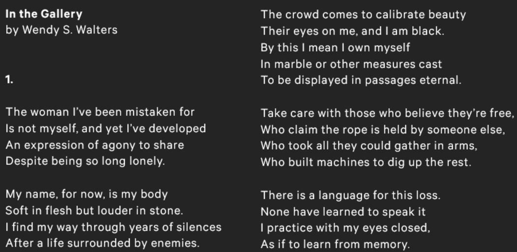 A poet's response to Carpeaux's Why Born Enslaved! MetCollects Video