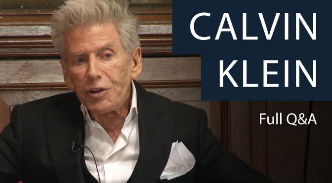 Celebrity Interviews: Fashion Designer Calvin Klein (Oxford Video)