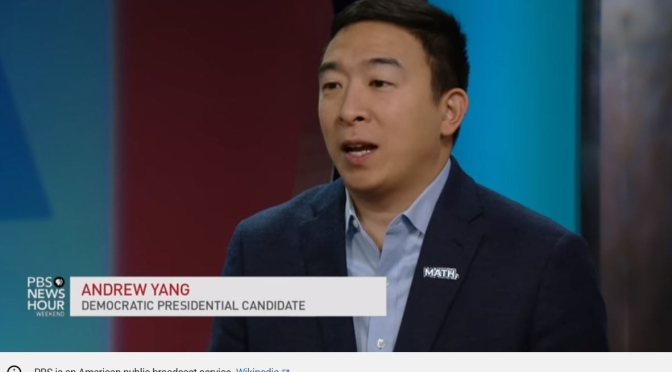 Politics: Democratic Presidential Candidate Andrew Yang Interview