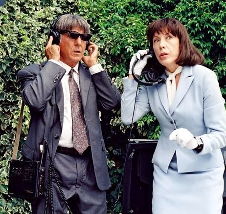 """Dustin Hoffman with Tomlin in """"I Heart Huckabees"""" in 2004. Fox SearchlightEverett Collection"""