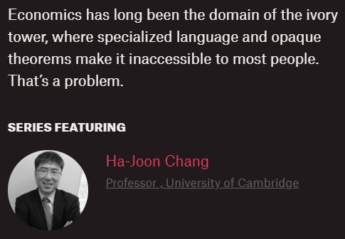 Economics For People With Ha-Joon Chang Institute for New Economic Thinking (INET) Cambridge University