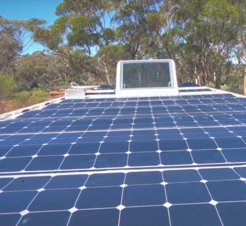 ERV solar panels on roof