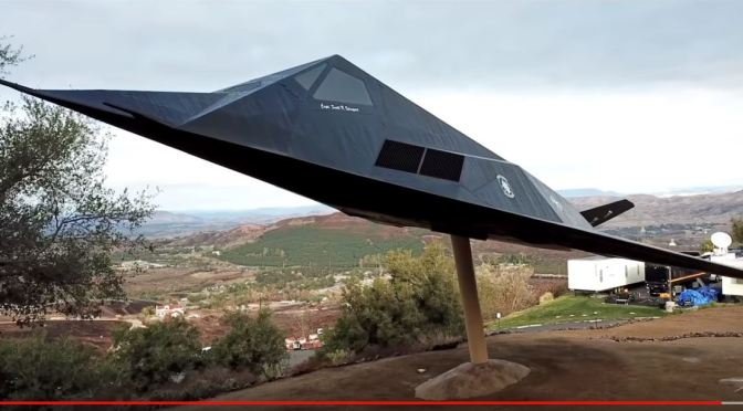 Top New Exhibits: F-117 NIGHTHAWK STEALTH FIGHTER At The Ronald Reagan Library & Museum