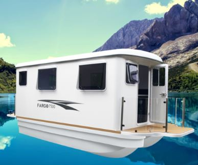 Fargo Elite Cabins catamaran hull