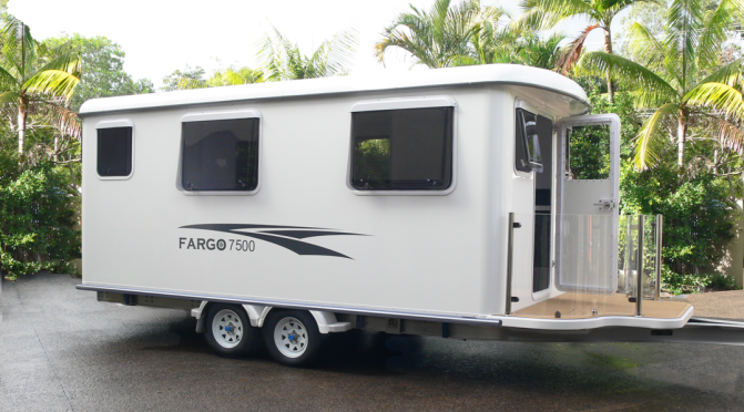"Top Camper Trailers: ""Fargo Elite Cabins"" Are At Home On Land Or Water"