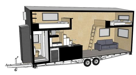 Kingfisher Tiny House interior diagram