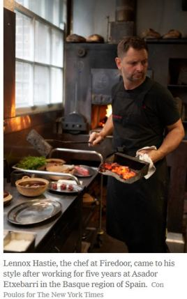 Lennox Hastie Chef of Firedoor Photo by Con Poulos New York Times