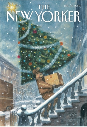 Peter de Sève New Yorker Cover Dec 16 2019