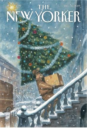 Peter de Sève New Yorker Cover Dec 16 2019