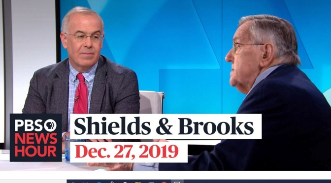 Politics: Mark Shields And David Brooks On The Latest In Washington (PBS)