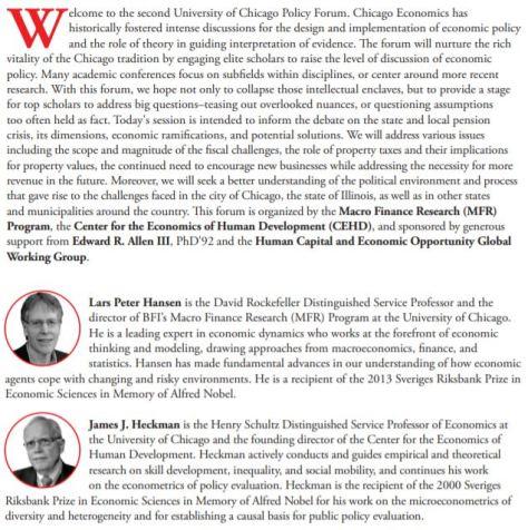 The Pension Crisis University of Chicago Debat November 2019 Program pg 1