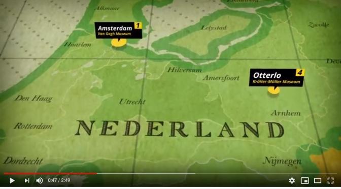 Art Videos: Vincent Van Gogh's Route Crossing Europe (1853-1890)