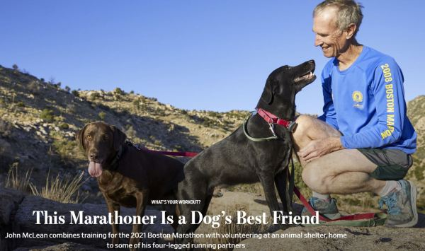 Wall Street Journal This Marathoner Is A Dog's Best Friend Dec 1 2019
