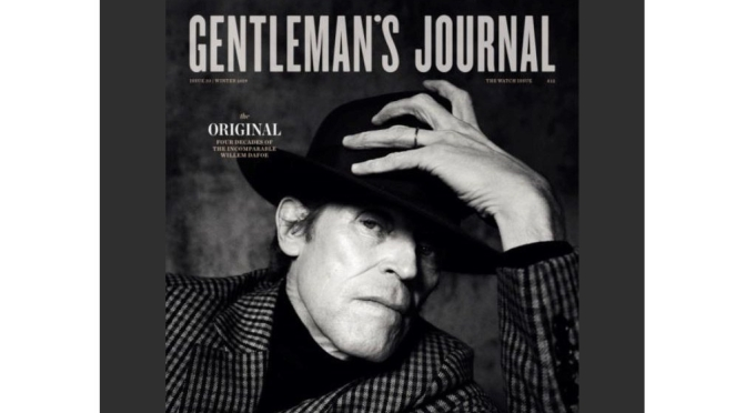 """Film Actor Profiles: """"An Essay On (64-Year Old) Willem Dafoe's Face…"""" (Gentleman's Journal)"""