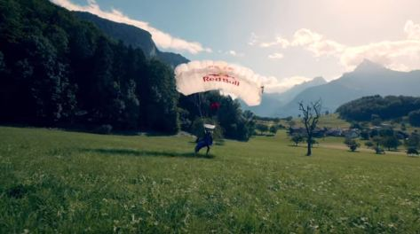 Wingsuit Flying in Switzerland Red Bull Film December 2019