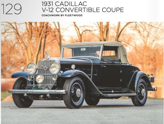 1931 Cadillac V-12 Convertible Coupe RM Sotheby's