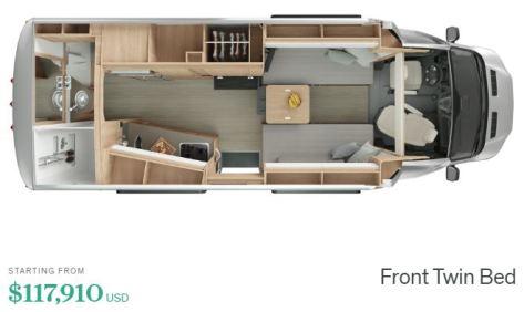 2020 Wonder Front Twin Bed Camper Van Interior