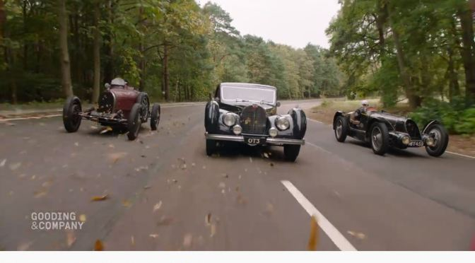 "Classic Cars: ""A Trio Of Bugattis At Speed"" (Gooding & Company)"