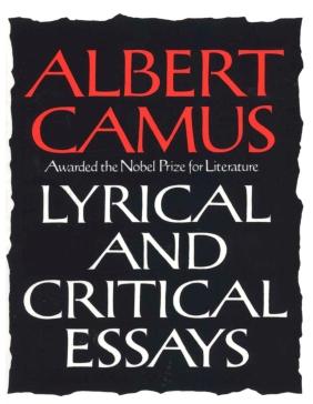 Albert Camus Lyrical and Critical Essays Return To Tipasa book